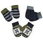 Toby™ Infant 3-Pack Snowflake Mittens in Olive
