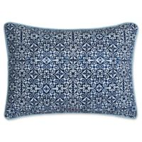 Chic Home Carson Medallion Oblong Throw Pillow in Blue