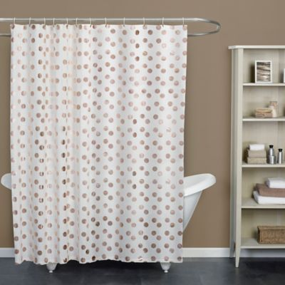 Dazzle Rose Standard Size Shower Curtain In Gold