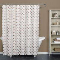 Dazzle Rose Standard Size Shower Curtain in Rose Gold