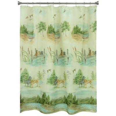 Bacova Woodland Dogs Shower Curtain