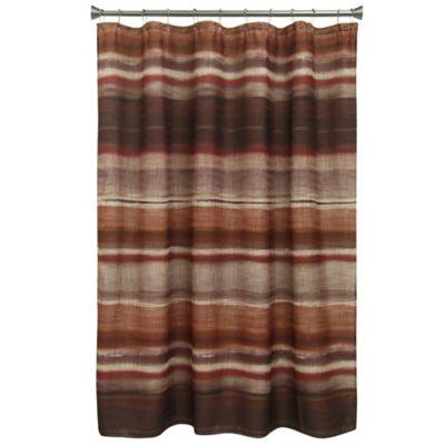 Bacova Sheridan Shower Curtain In Burgundy