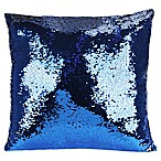 Shimmer Square Throw Pillow in Blue