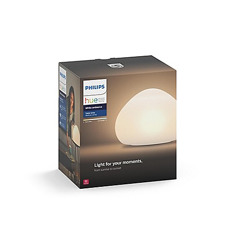 Philips Hue White Ambiance Wellner Table Lamp Bed Bath