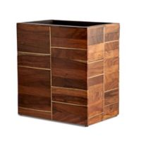 Kassatex Melrose Wastebasket in Rosewood