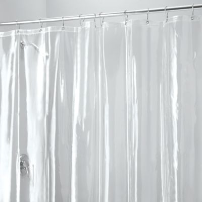 InterDesignR 72 Inch X 96 Vinyl Shower Liner With Hooks