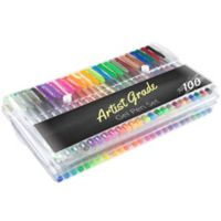 Trademark Games Artist Grade 100-Count Color Gel Pen Set