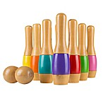 Hey! Play! Wooden Lawn Bowling Game in Multi