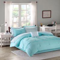 Intelligent Design Toren 7-Piece Twin XL Comforter Set in Aqua
