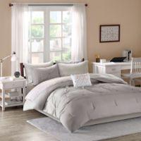 Intelligent Design Toren 7-Piece Twin XL Comforter Set in Grey