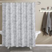 Maytex Papier Shower Curtain in Blue/White