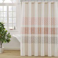 KAS ROOM Nola Shower Curtain in Linen