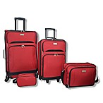 Lucida 4-Piece Luggage Set in Red
