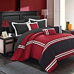 Chic Home Annabel 10-Piece Queen Comforter Set in Red