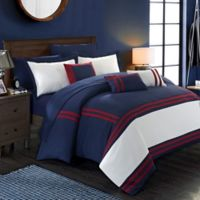 Chic Home Annabel 10-Piece King Comforter Set in Navy