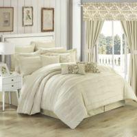 Chic Home Geraldina 24-Piece King Comforter Set in Beige