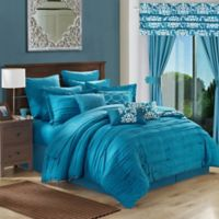 Chic Home Geraldina 24-Piece Queen Comforter Set in Teal