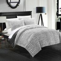 Chic Home Allie 3-Piece Queen Comforter Set in Grey