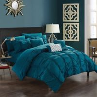 Chic Home Voni 10-Piece Queen Comforter Set in Navy
