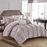 Chic Home Voni 10-Piece Queen Comforter Set in Lavender