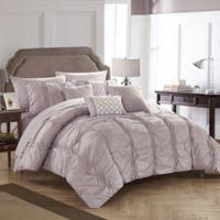 Chic Home Voni 10-Piece Queen Comforter Set in Lavender