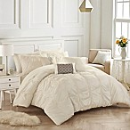 Chic Home Voni 10-Piece Queen Comforter Set in Beige