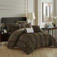 Chic Home Voni 10-Piece Queen Comforter Set in Brown
