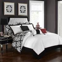 Chic Home Naira 10-Piece Reversible Queen Comforter Set in Black