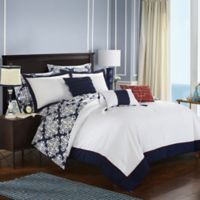 Chic Home Naira 10-Piece Reversible King Comforter Set in Navy