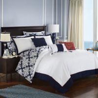 Chic Home Naira 10-Piece Reversible Queen Comforter Set in Navy