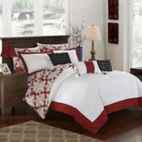 Chic Home Naira 10-Piece Reversible Queen Comforter Set in Marsala