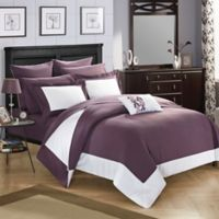 Chic Home Bathilda 10-Piece King Reversible Comforter Set in Plum