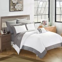 Chic Home Bathilda 10-Piece King Reversible Comforter Set in Grey