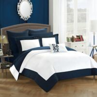 Chic Home Bathilda 10-Piece King Reversible Comforter Set in Navy