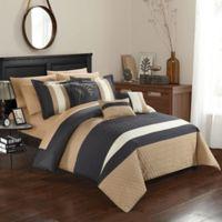 Chic Home Rafael 10-Piece King Comforter Set in Grey