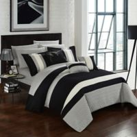 Chic Home Rafael 10-Piece King Comforter Set in Black