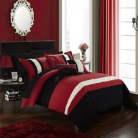 Chic Home Rafael 10-Piece King Comforter Set in Red