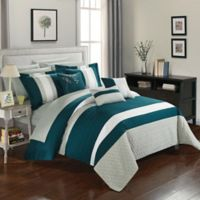 Chic Home Rafael 10-Piece Queen Comforter Set in Teal