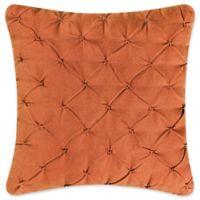 Santa Ana Diamond Square Throw Pillow in Orange