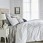 Chenille Lattice King Duvet Cover in White