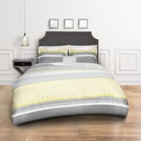 Crescent 8-Piece Queen Comforter Set in Grey/Yellow