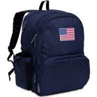 State of Mind USA Flag Megapak Backpack in Blue