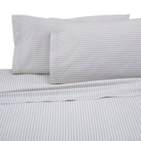 Martex 225-Thread Count Standard Stripe Pillowcase Set in Light Grey (Set of 2)