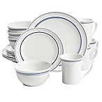 Gibson Home Porto 32-Piece Dinnerware Set in  Blue