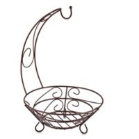 Home Basics® Scroll Fruit Basket with Banana Tree in Bronze