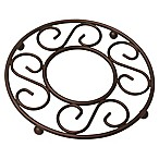 Home Basics® Scroll Trivet in Bronze