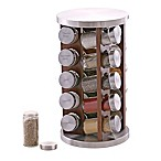 Orii™ Gourmet Acacia Wood 20-Jar Rotating Spice Rack