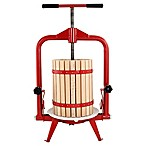 18-Liter Harvest Fiesta Fruit and Wine Press with Frame in Red