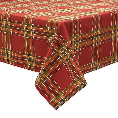 Bardwil Linens Autumnal Plaid Tablecloths Bed Bath Amp Beyond