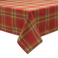 Bardwil Linens Autumnal Plaid 60-Inch x 102-Inch Oblong Tablecloth
